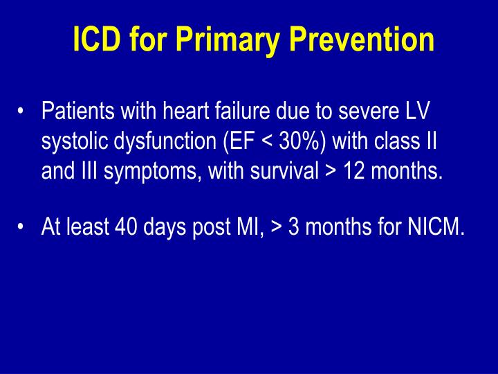 ICD for Primary Prevention