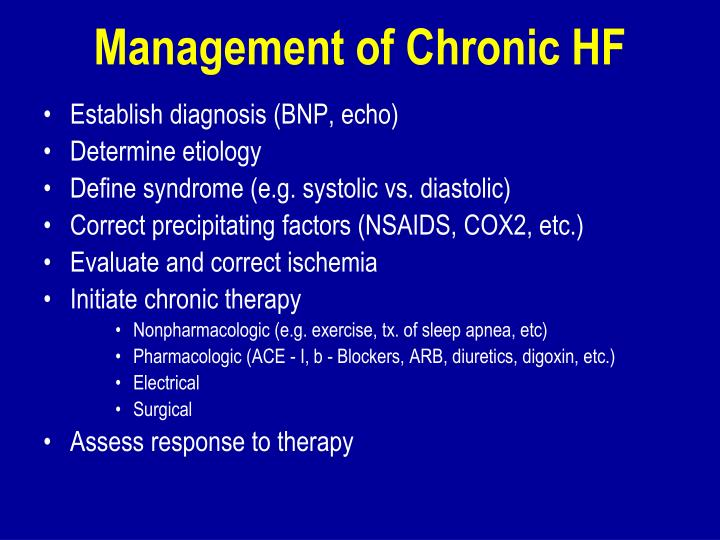 Management of Chronic HF