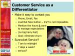 customer service as a differentiator1