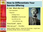 how to differentiate your service offering1