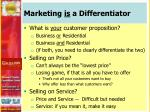marketing is a differentiator