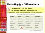 marketing is a differentiator1