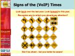 signs of the voip times