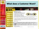 what does a customer want