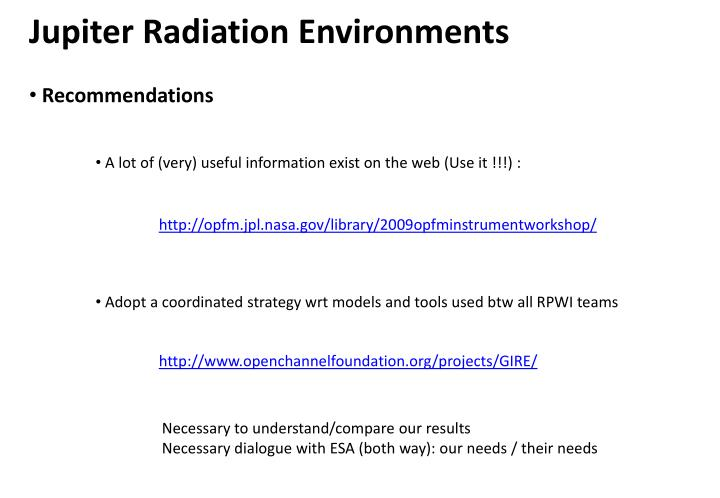 Jupiter Radiation