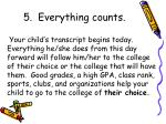 5 everything counts
