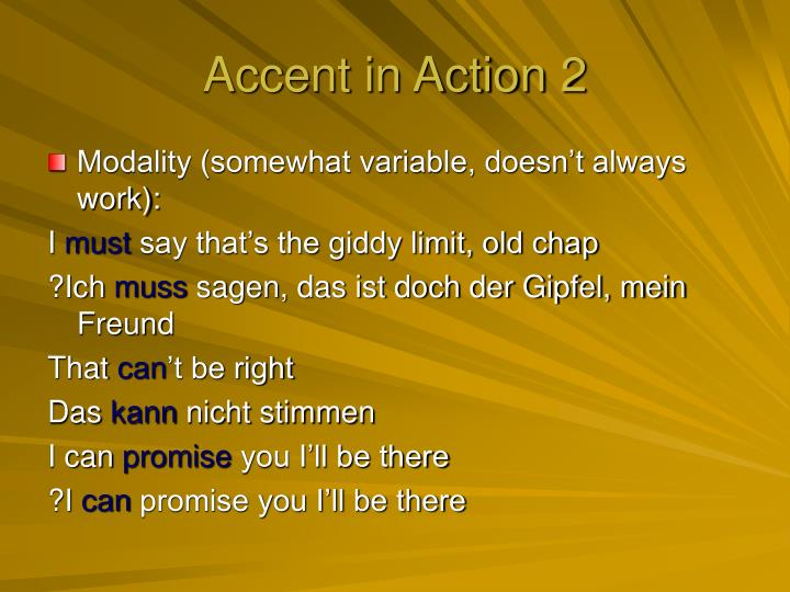 Accent in Action 2