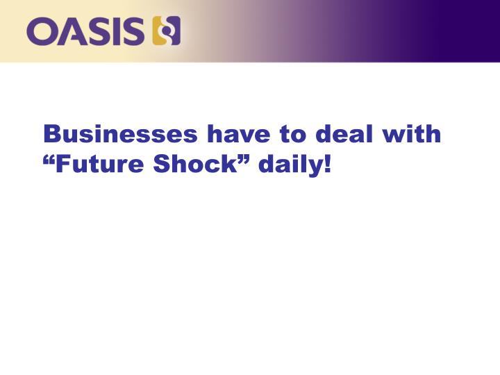 Businesses have to deal with future shock daily