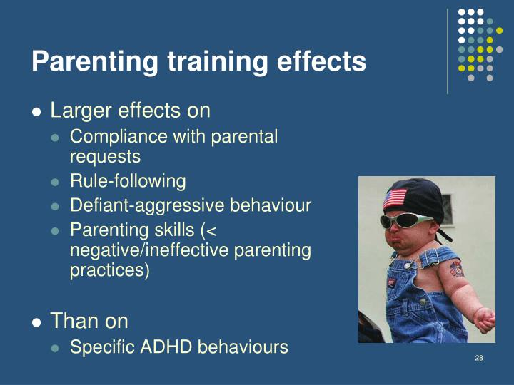 Parenting training effects