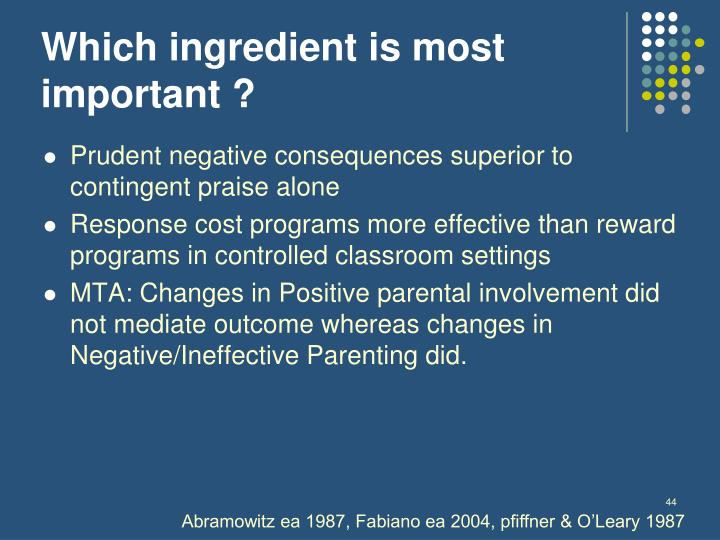 Which ingredient is most important ?