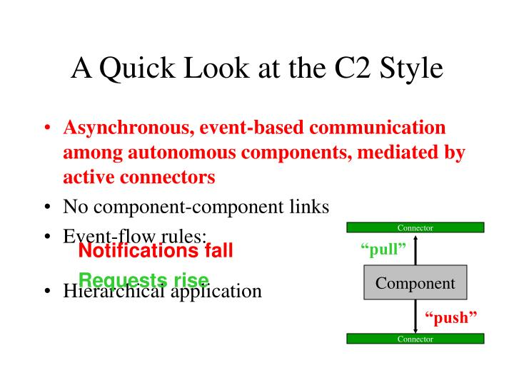 A Quick Look at the C2 Style