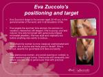 eva zuccolo s positioning and target1