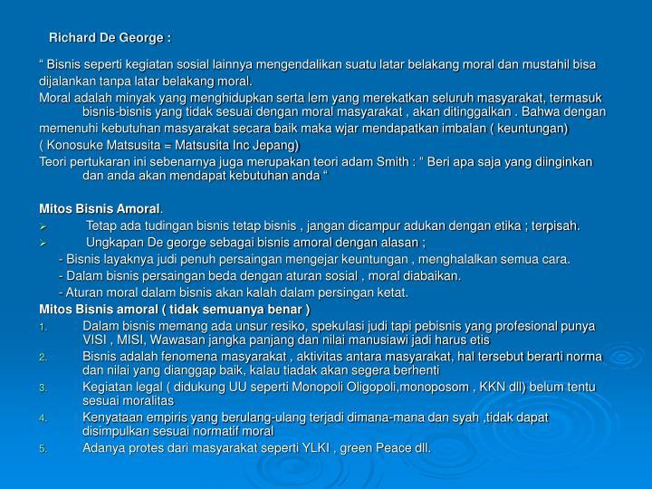 Richard De George :