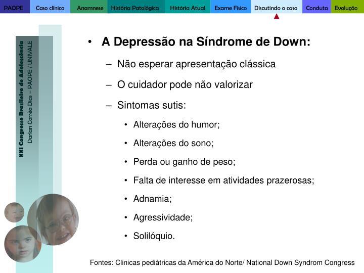 A Depressão na Síndrome de Down: