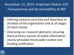 december 11 2013 important notice 135 transparency and accountability at nsf
