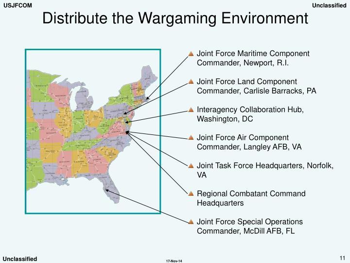 Distribute the Wargaming Environment