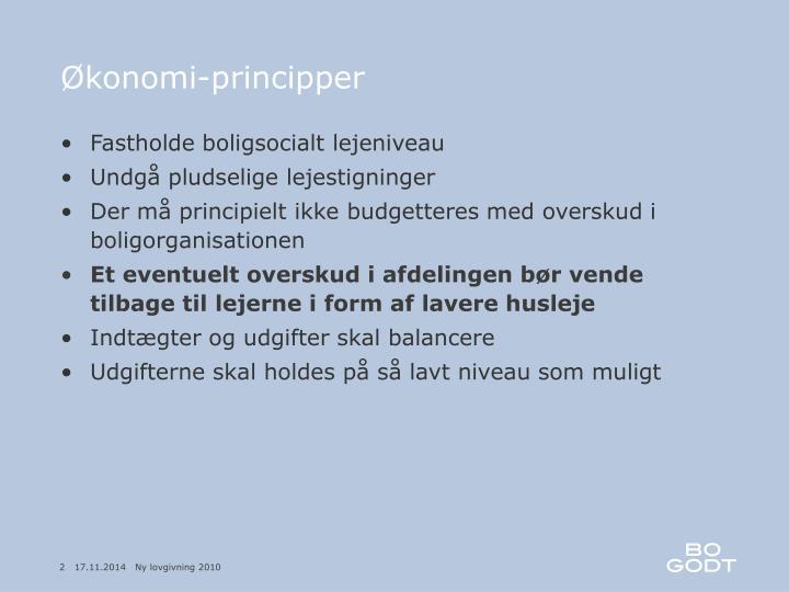Konomi principper