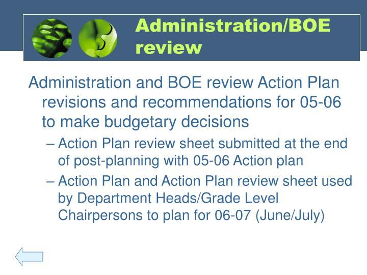 Administration/BOE review