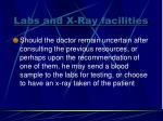 labs and x ray facilities