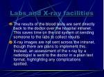 labs and x ray facilities1