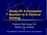 study of a computer system in a clinical setting