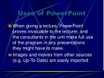 uses of powerpoint