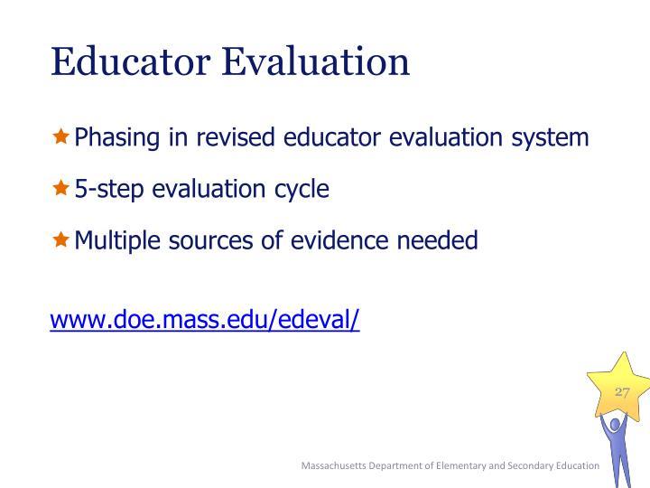 Educator Evaluation
