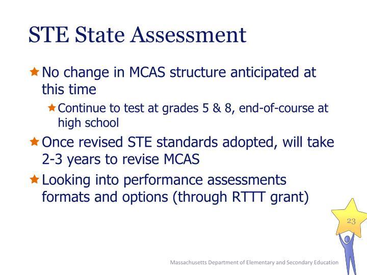 STE State Assessment