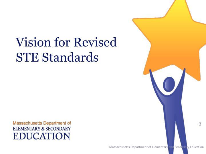 Vision for revised ste standards
