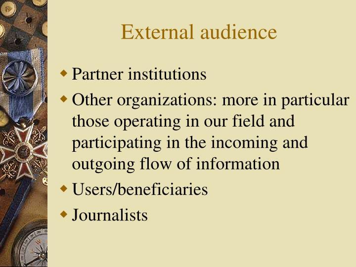 External audience