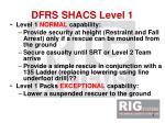 dfrs shacs level 1