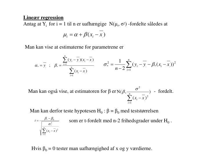 Lineær regression