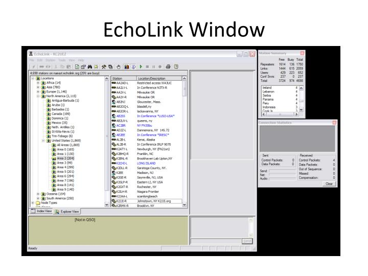 EchoLink Window