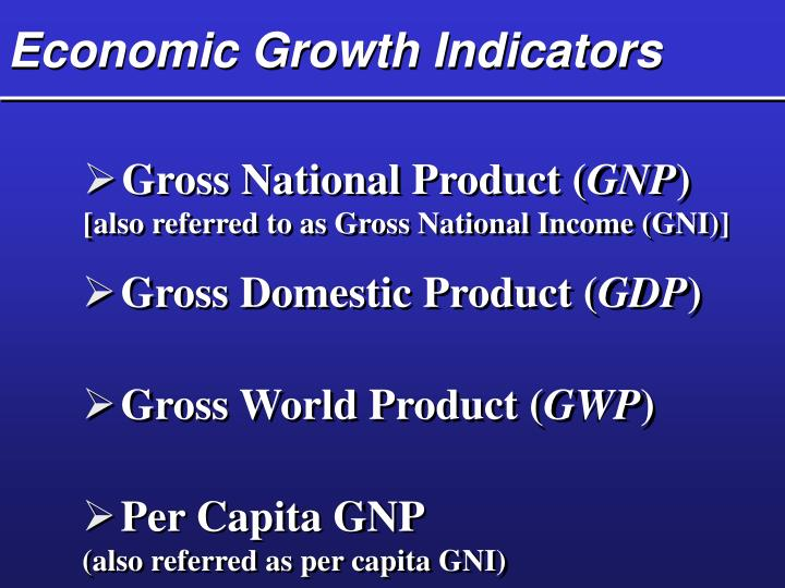 Economic Growth Indicators