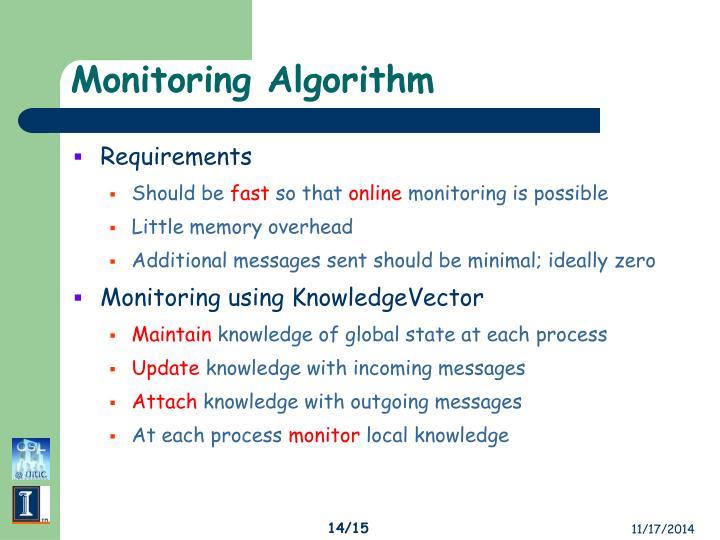 Monitoring Algorithm