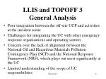 llis and topoff 3 general analysis