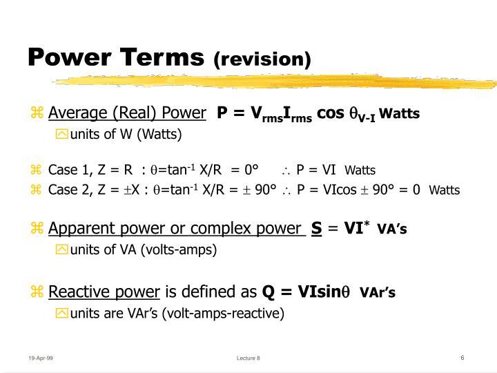 Power Terms