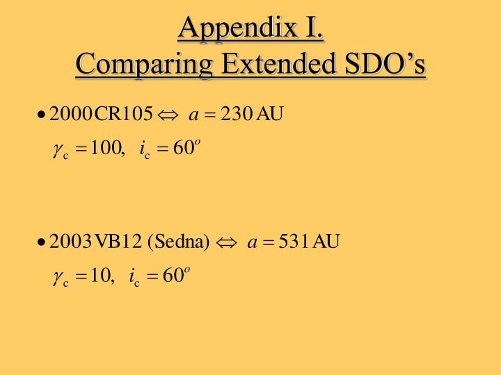 Appendix I.