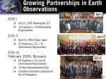 growing partnerships in earth observations