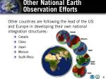 other national earth observation efforts