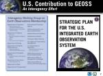 u s contribution to geoss an interagency effort