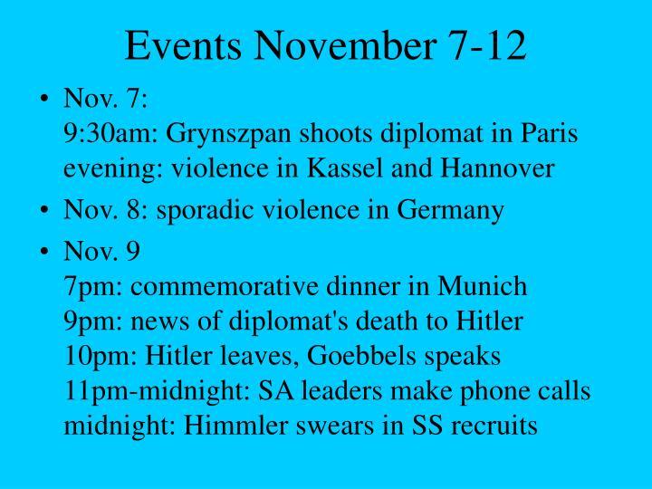 Events November 7-12