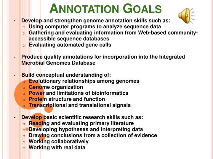Annotation Goals