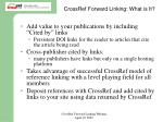 crossref forward linking what is it