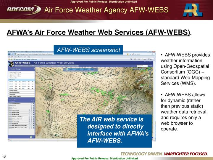 Air Force Weather Agency AFW-WEBS