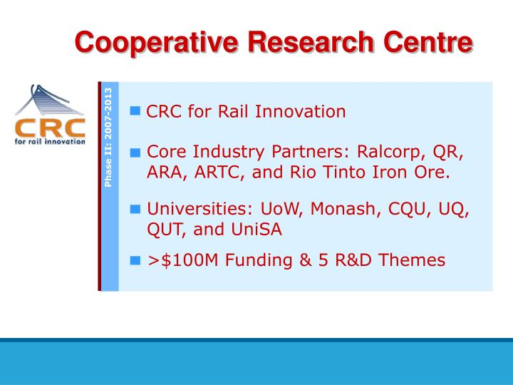 Cooperative research centre