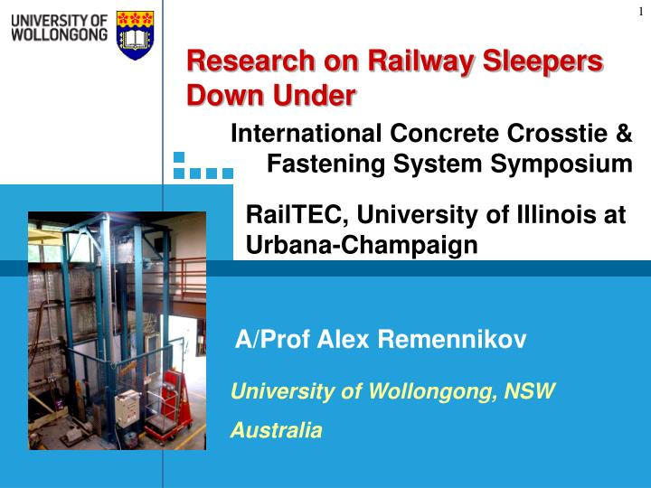 Research on Railway Sleepers Down Under