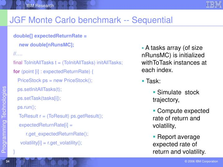 JGF Monte Carlo benchmark -- Sequential