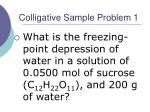 colligative sample problem 1