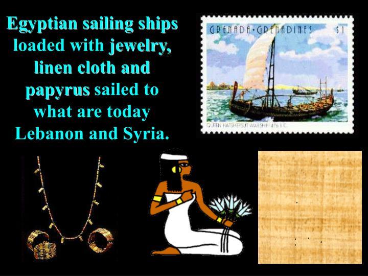 Egyptian sailing ships